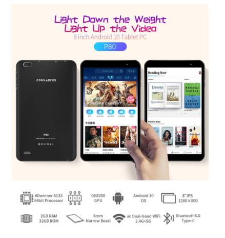 BUEN PRECIO desde ESPAÑA! Tablet Teclast P80 8″ 2GB/32GB a 55€