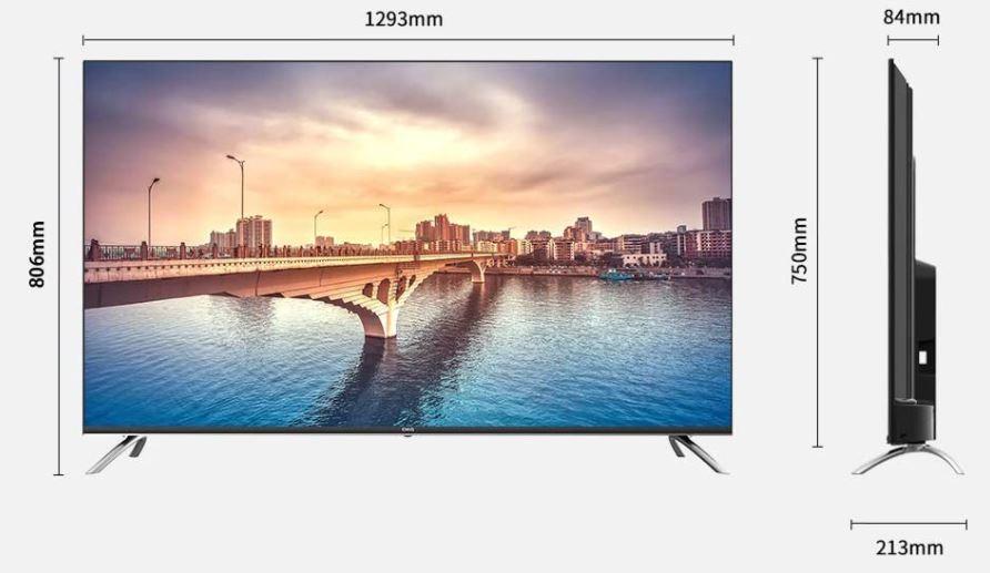 TV ChiQ 58 dimensiones