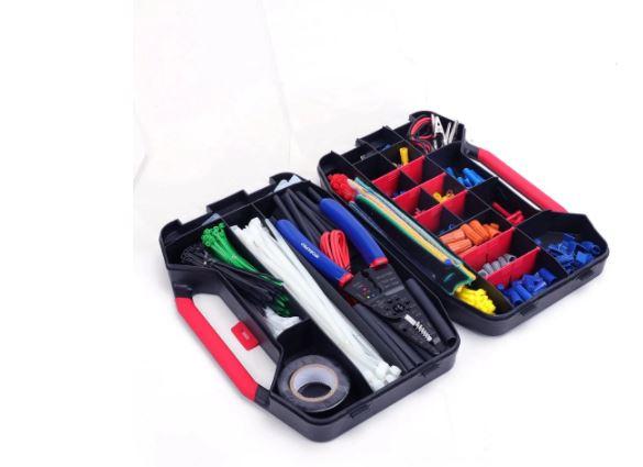 PRECIAZO desde ESPAÑA! 2x Maletin 582 piezas accesorios electricista a 15€