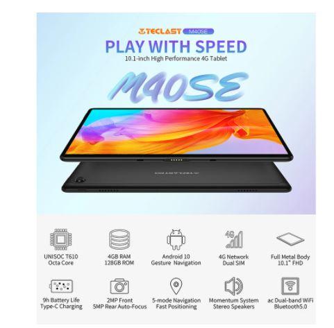 PRECIAZO desde ESPAÑA! Teclast M40SE 4G 4/128GB desde Aliexpress España a 104€