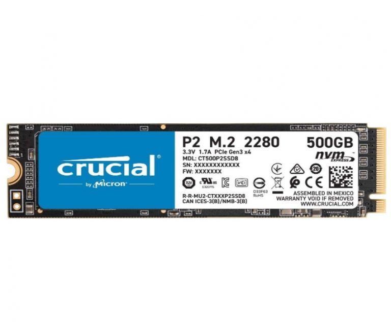 CHOLLO Amazon! Crucial P2 NVME M.2 SSD 500GB a 47,9€
