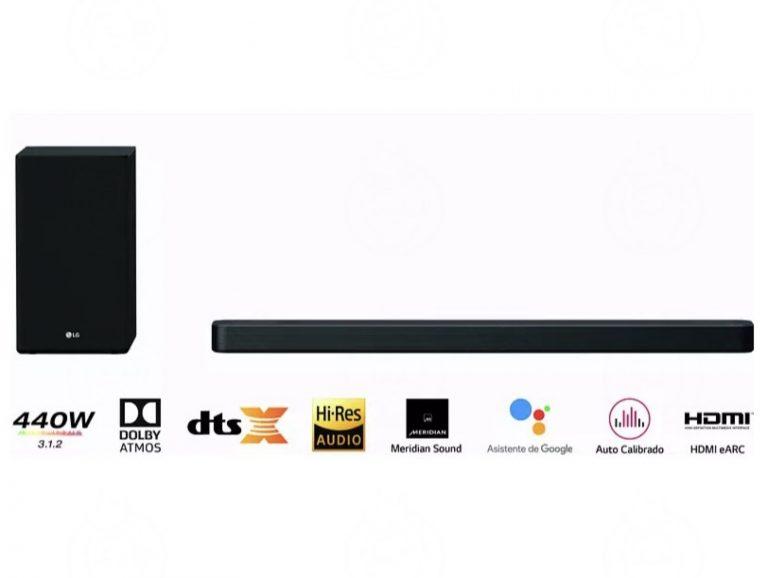 PRECIAZO! Barra de sonido LG SN8YG 3.1.2 440 Dolby Atmos + Auriculares LG Tone Free a 339€