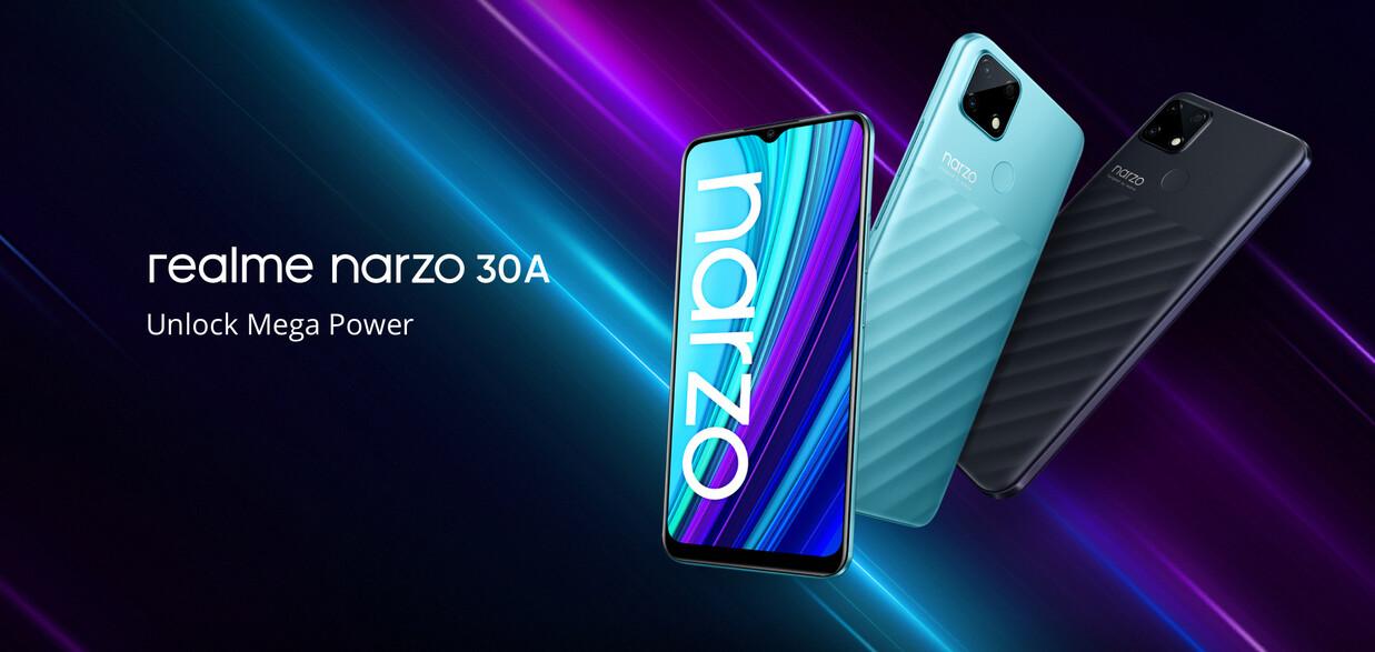 PRECIAZO Desde España! Realme Narzo 30A batería 6.000 mAh y 64GB a 89€