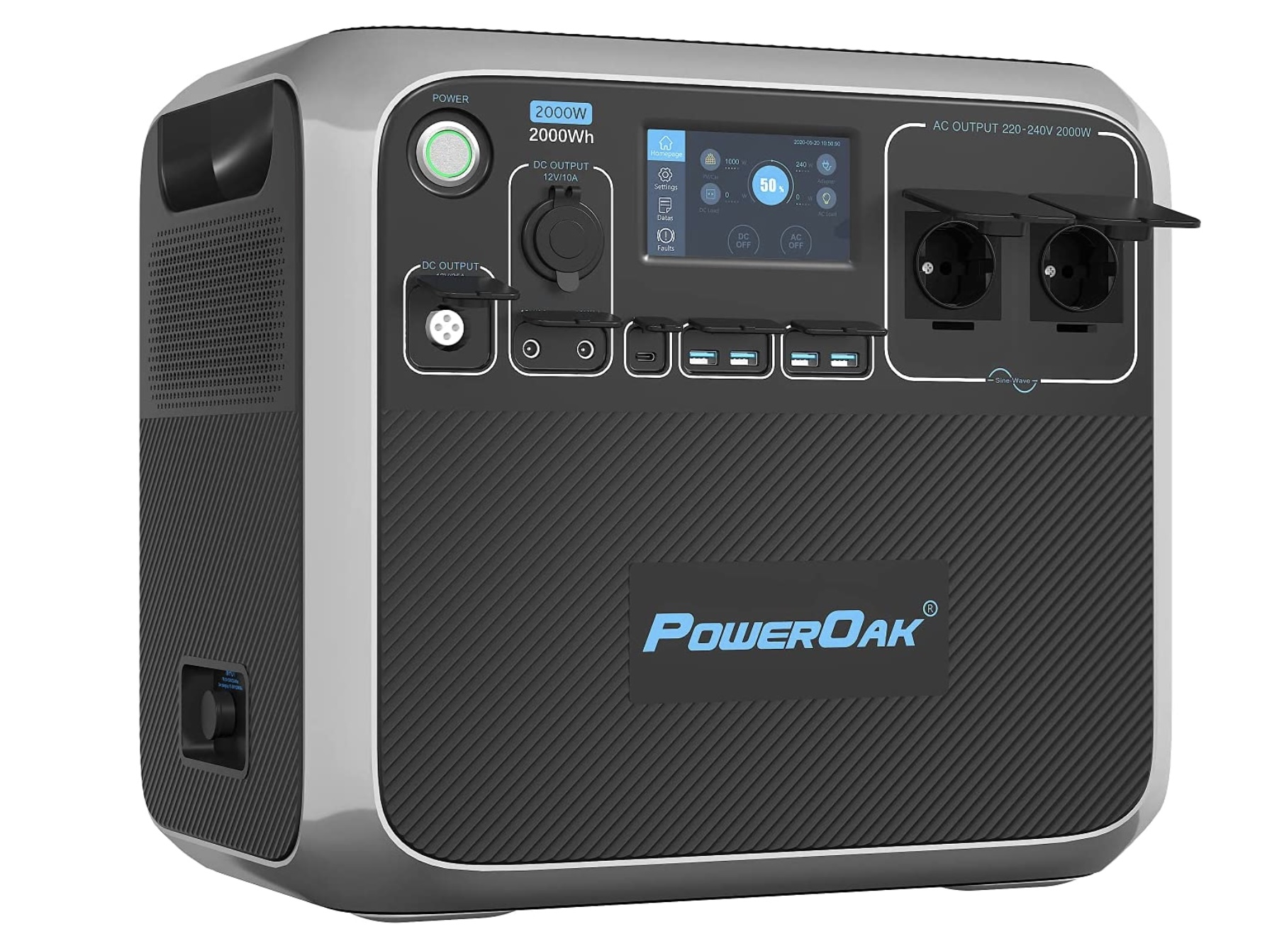Generador solar portatil inversor 2000W PowerOak Bluetti AC200P