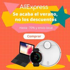 PROMO Fin Verano AliExpress: Dto de hasta -70% (Cupones válidos y top ofertas)