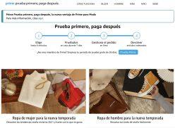 Amazon Fashion Prime: prueba primero, ¡paga después!