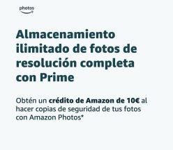 GRATIS! 10€ al subir 1 foto a Amazon Photos